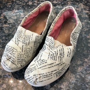 Toms Dictionary Quotes Classic Slip Ons